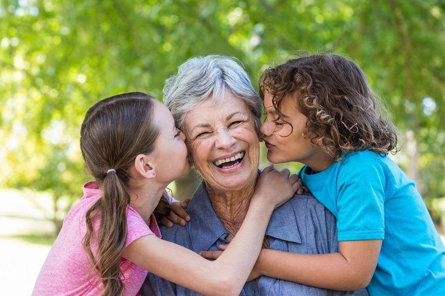 Grandmother with grand-daughters
