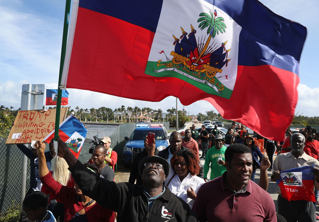Haitian Community Activists Protest President Trump's Recent Offensive Comments Near Mar-a-Lago