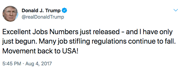 He's not supposed to discuss the jobs report right away