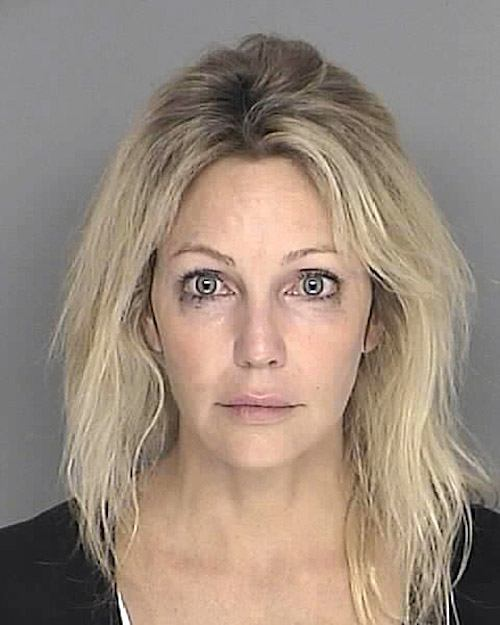 Heather Locklear's 2008 mug shot.