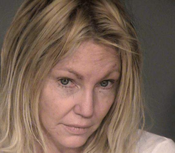 Heather Locklear's mug shot.