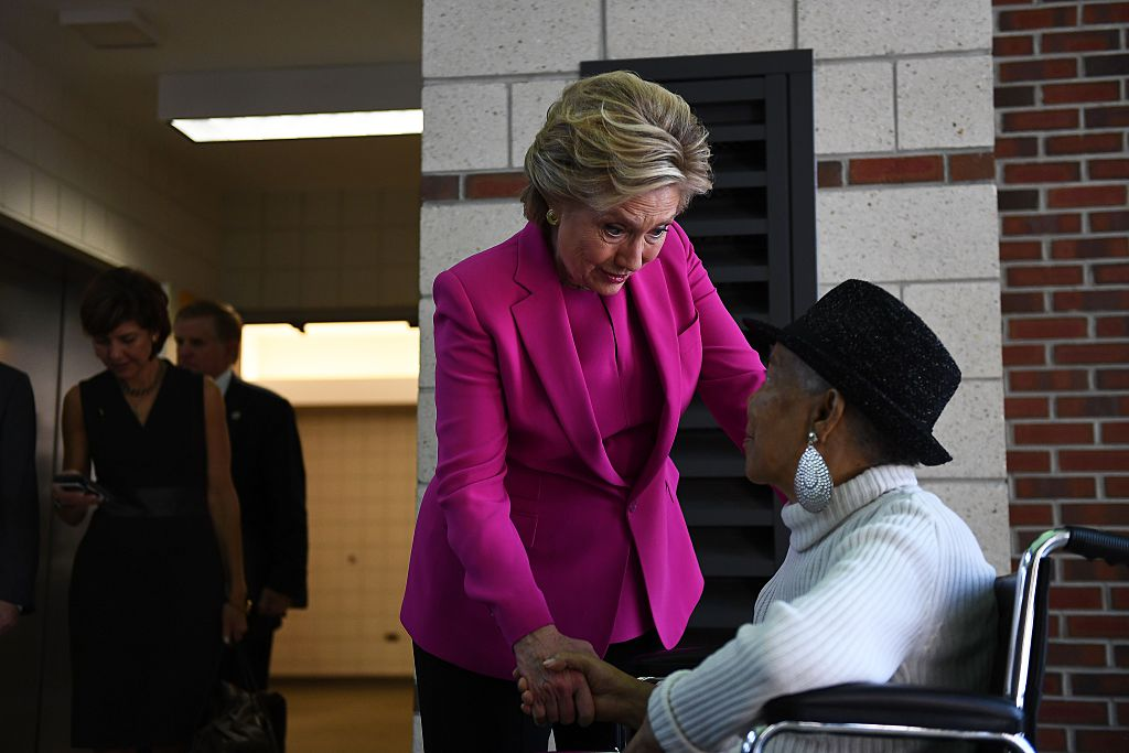 Hillary Clinton and Mae Wiggins