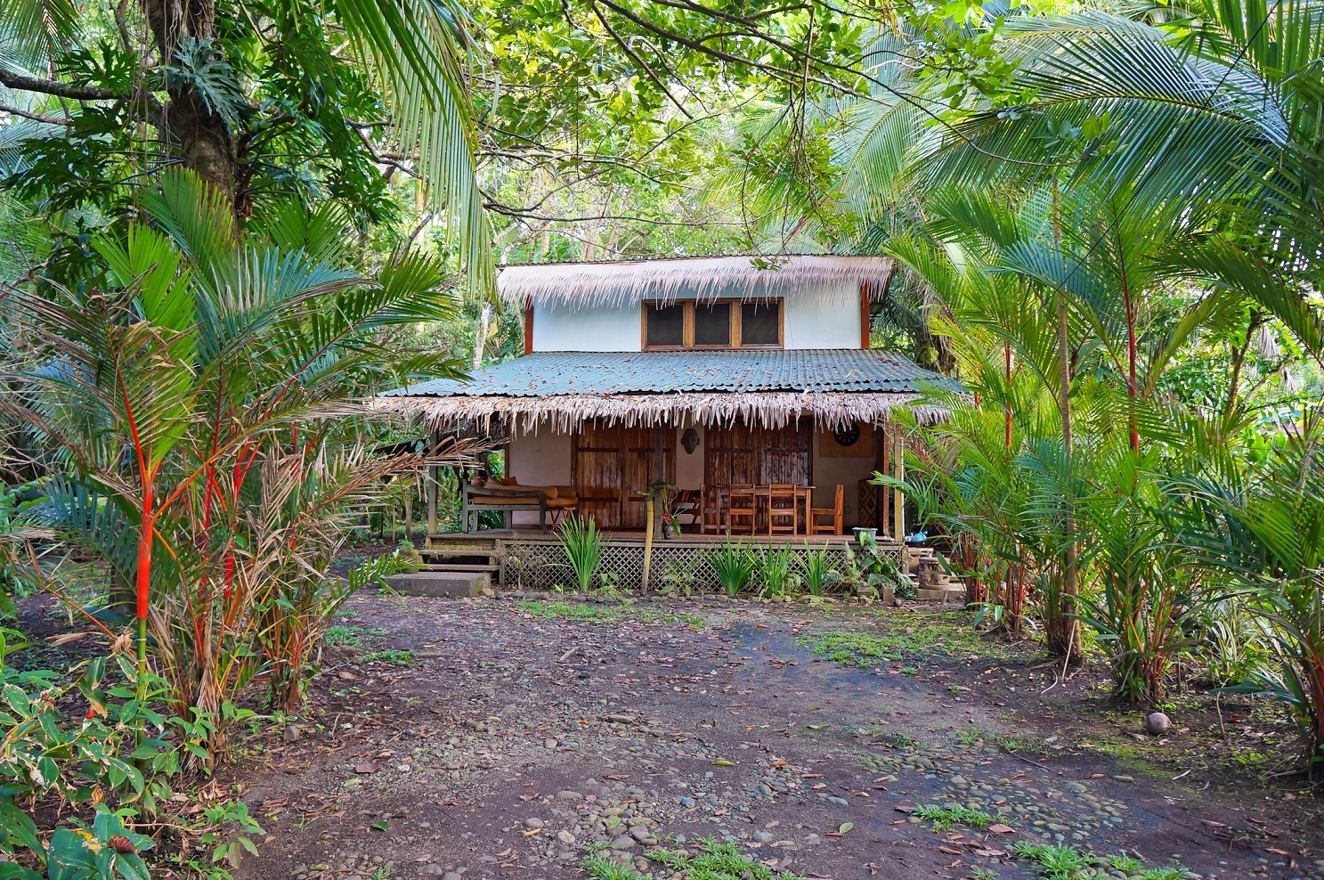 Tropical home with exotic vegetation in Costa Rica