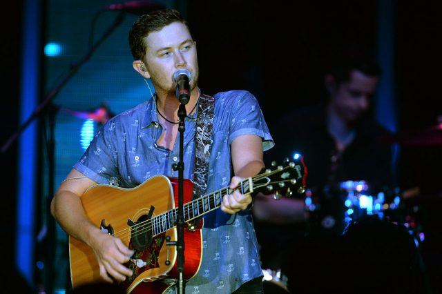 Scotty McCreery performs during the WME Party at the IEBA 2015 Conference