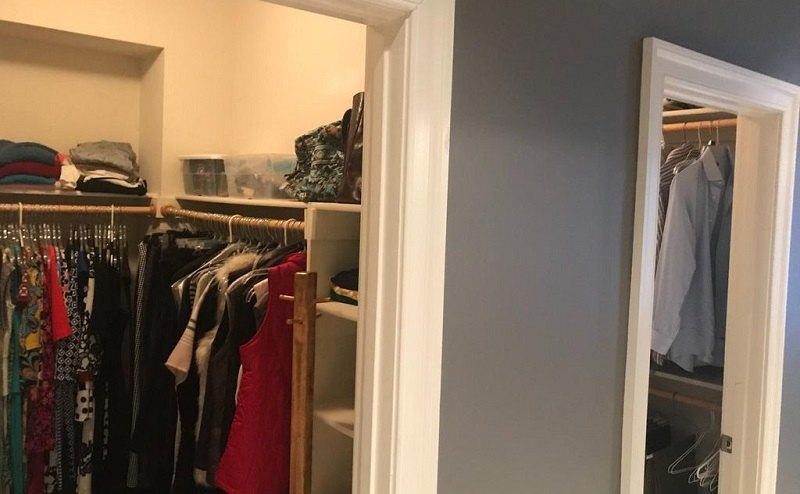 Clothes hanging in closets inside Michael Flynn's home for sale
