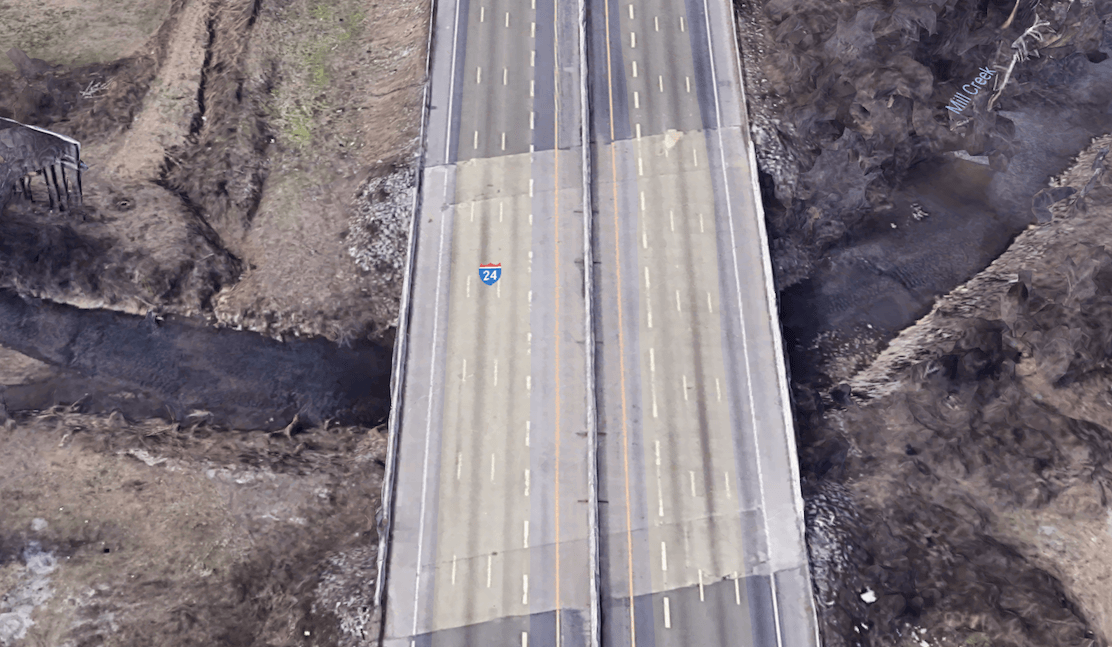 Interstate 24 over Mill Creek