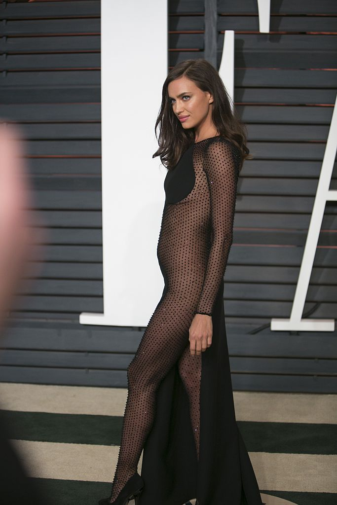 Irina Shayk at the 2015 Vanity Fair Oscar Party