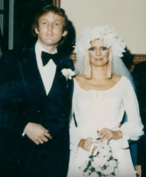 Donald Trump and Ivana Trump on their wedding day.