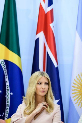 Ivanka Trump attends a panel discussion titled 'Launch Event Women's Entrepreneur Finance Initiative' on the second day of the G20 summit