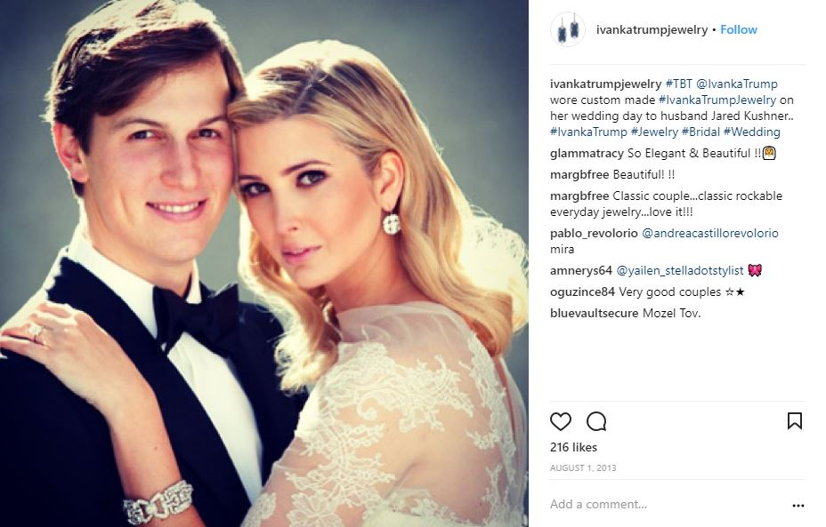 Jewelry of Ivanka Trump