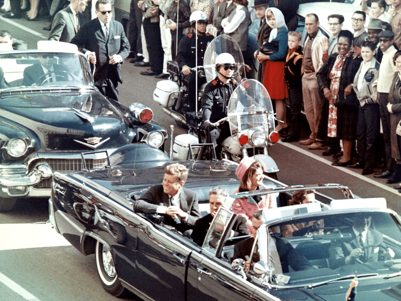 John F. Kennedy and Jackie assassination