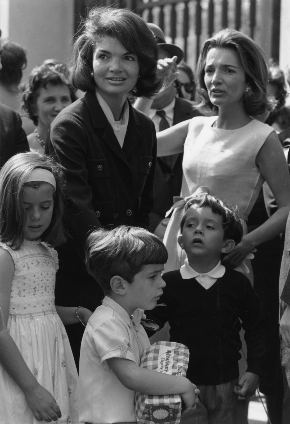 Jackie Kennedy on left, widow of president John Kennedy, with her children