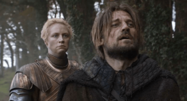 Jaime Lannister struggling in pain while in a forest.
