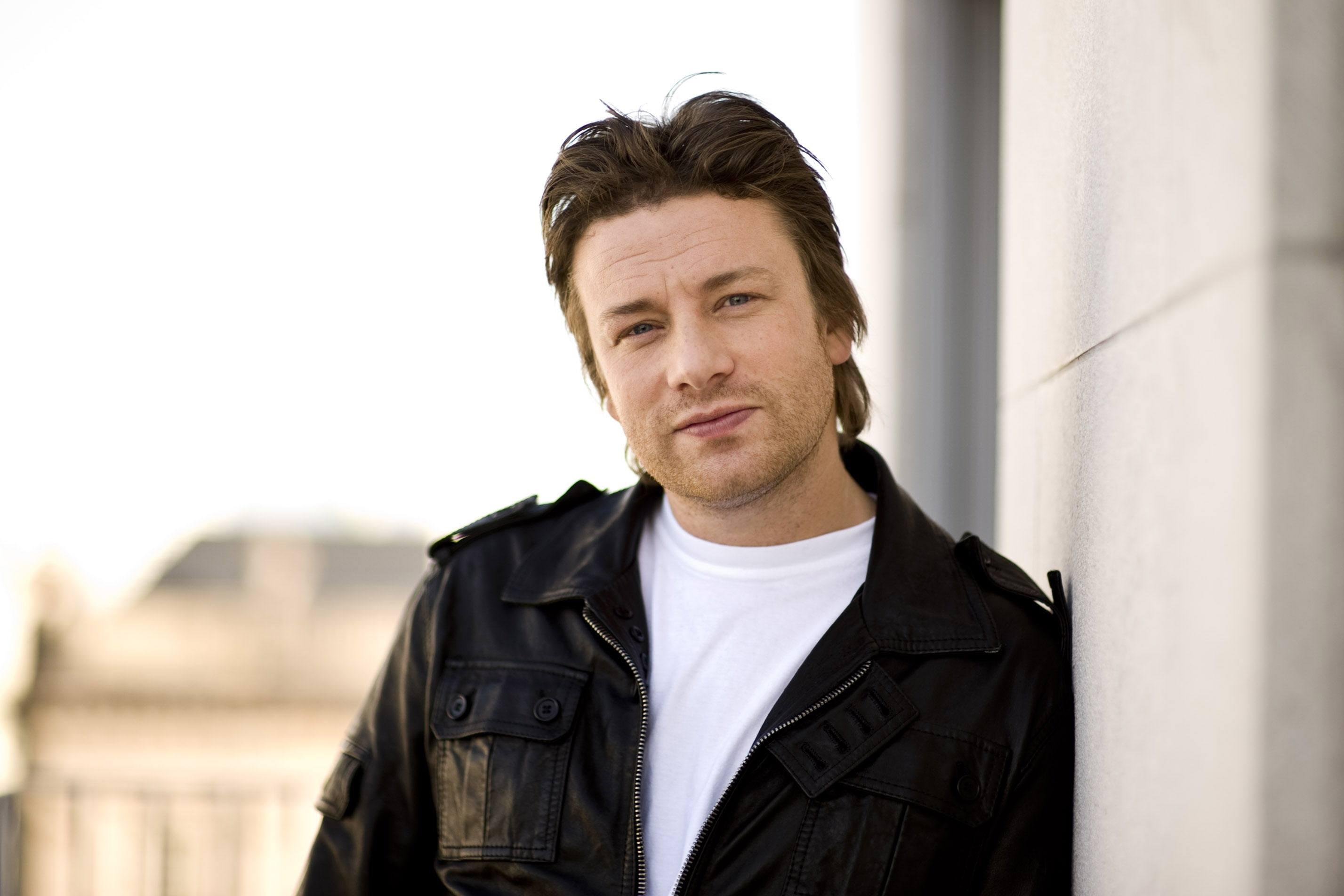 British celebrity Chef Jamie Oliver poses