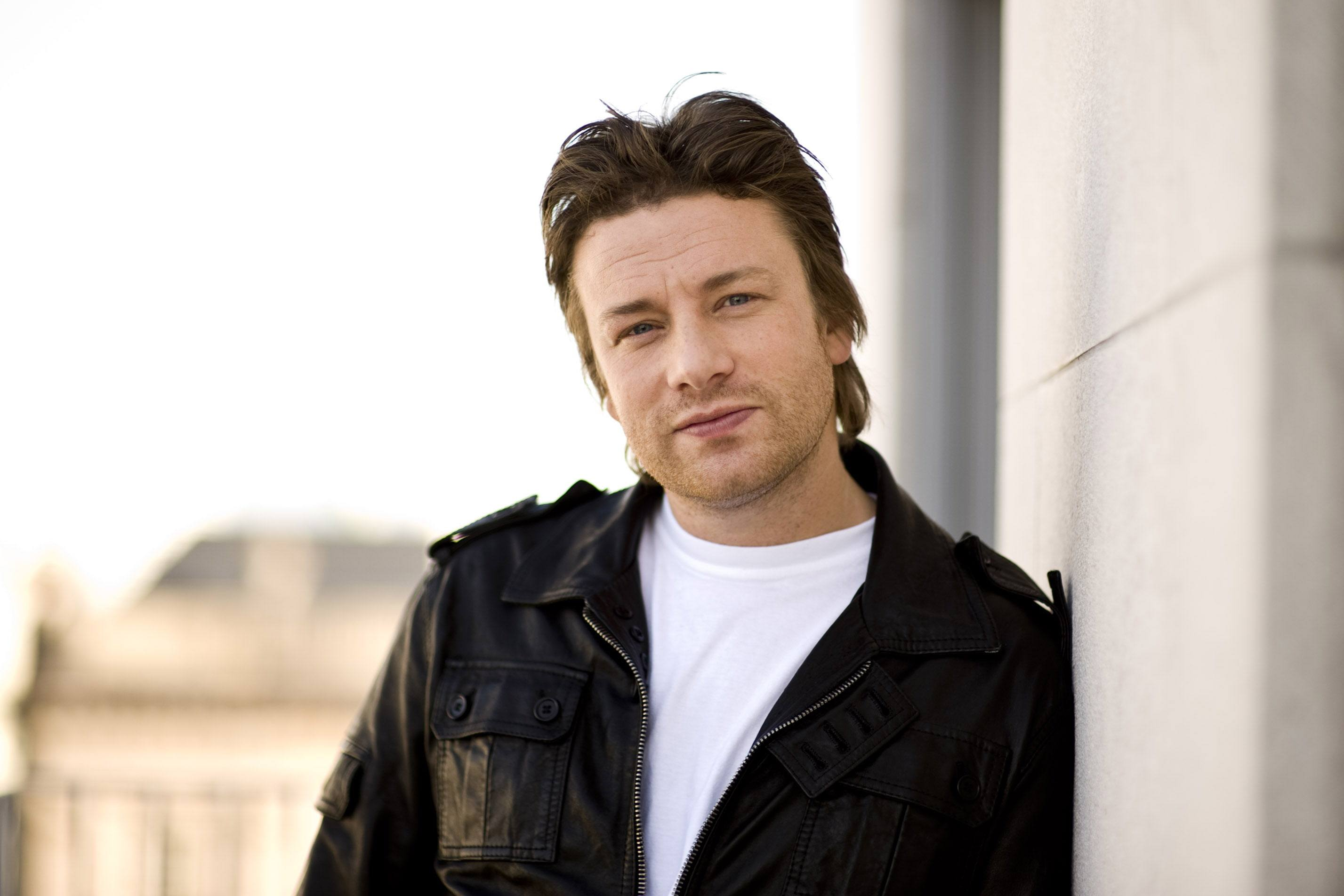 British celebrity Chef Jamie Oliver poses