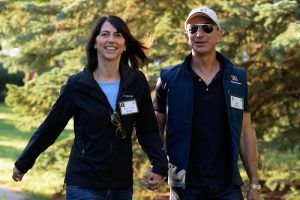 The Scandalous Office Love Affair That Brought Jeff Bezos and His Wife Together