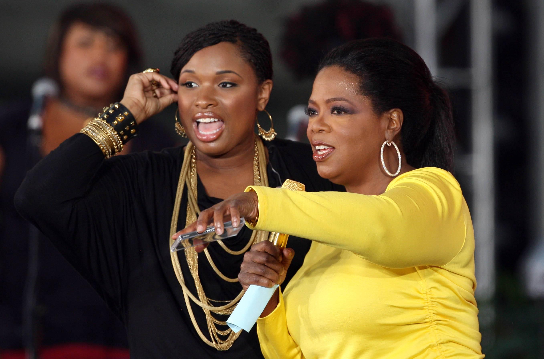 Jennifer Hudson and Oprah Winfrey
