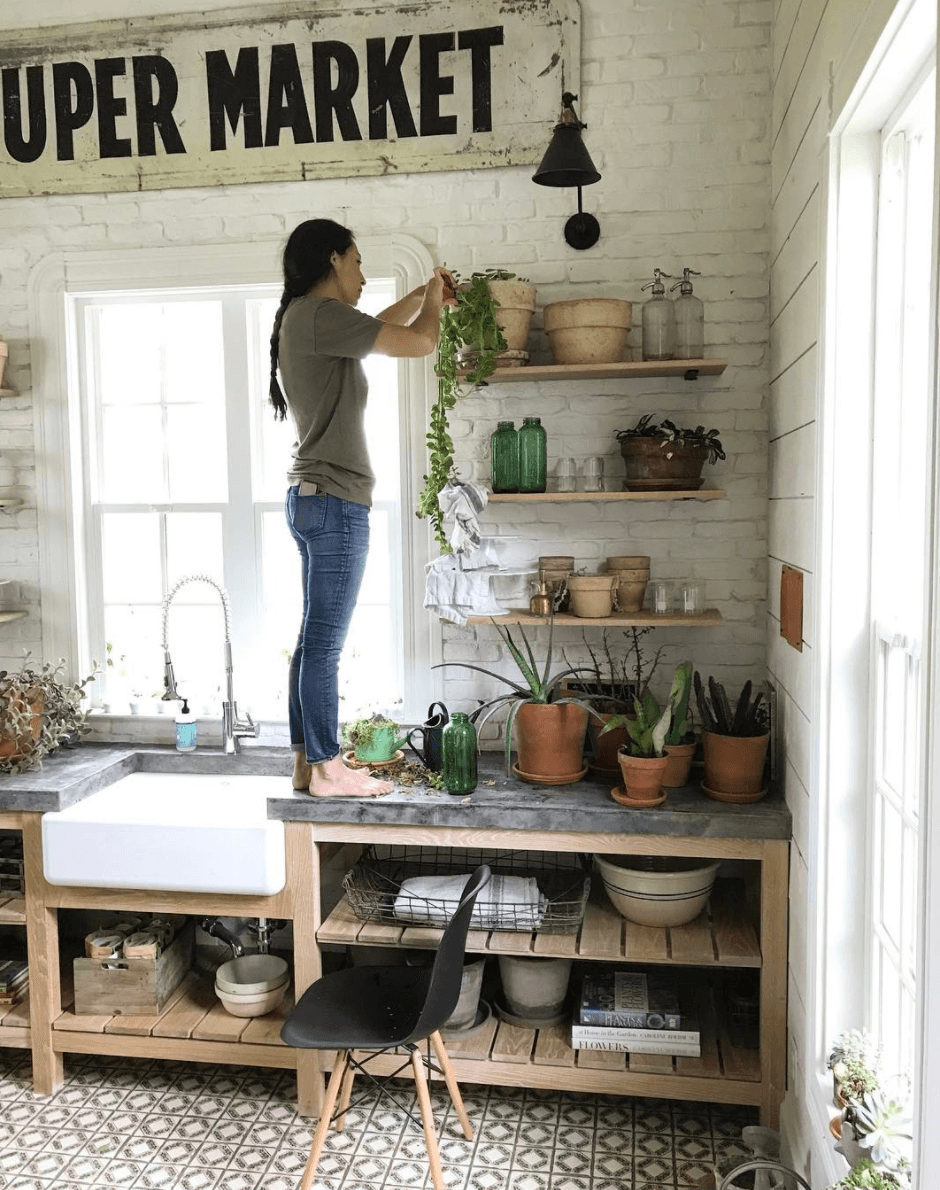 Joanna Gaines plants