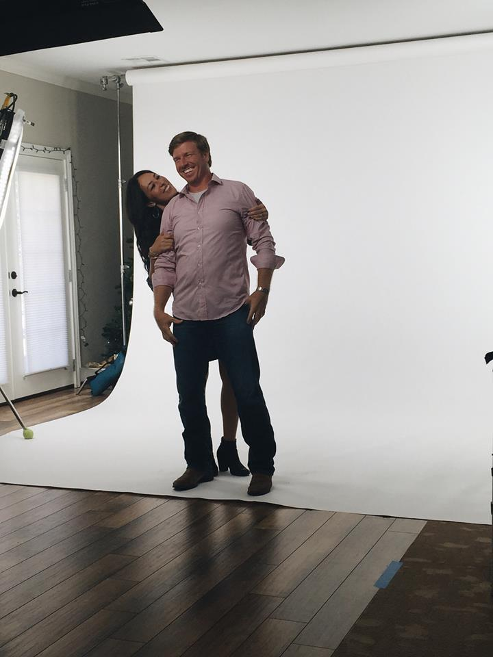 Chip and Joanna Gaines in a photoshoot