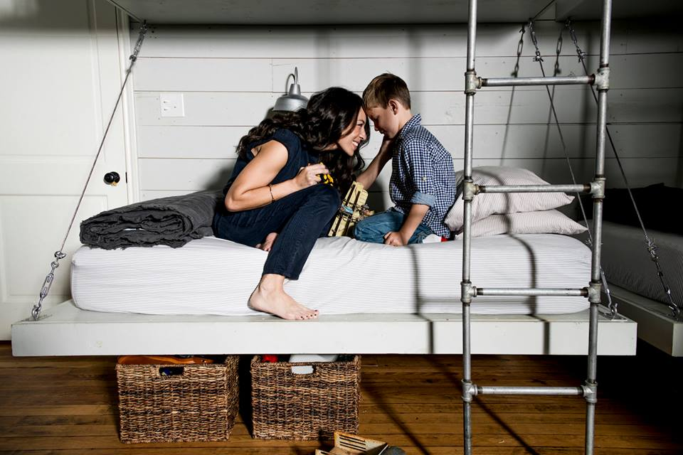 Joanna Gaines and her son
