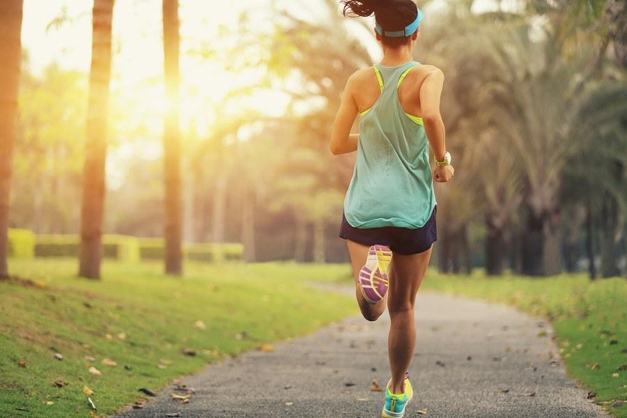 Jogging in morning