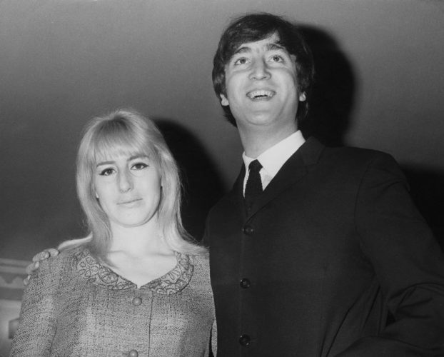 Musician, singer and songwriter John Lennon with his first wife Cynthia during the launch of his book 'In His Own Write' at the Dorchester Hotel in London