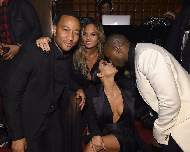 """John Legend, Chrissy Teigen, Kim Kardashian and Kanye West attend John Legend Celebrates His Birthday And The 10th Anniversary Of His Debut Album """"Get Lifted"""" at CATCH NYC"""