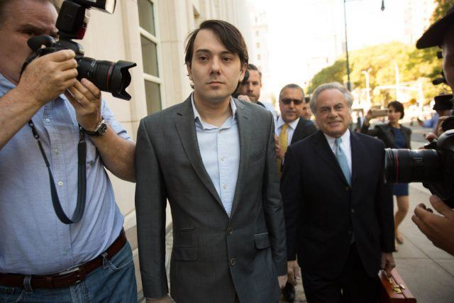Ex-pharmaceutical executive Martin Shkreli arrives at the U.S. District Court