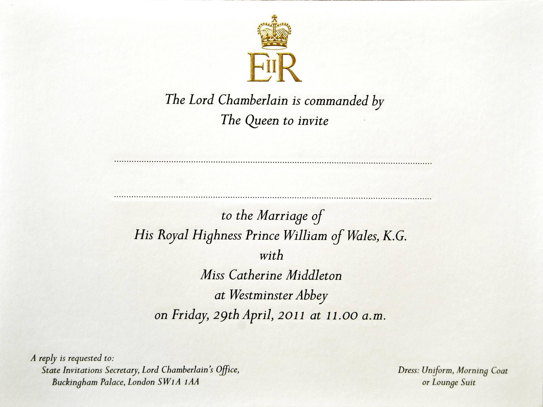 Prince William and Kate Middleton's Wedding Invites Prepared