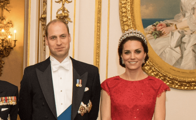 Kate Middleton and Prince William at the diplomatic reception.
