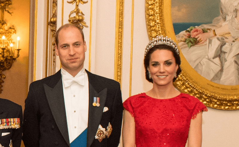 Kate Middleton and Prince William at the diplomatic reception