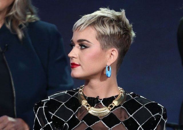 Katy Perry at the TCA Press tour for American Idol.