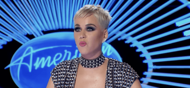 Katy Perry sitting as a judge on 'American Idol'.