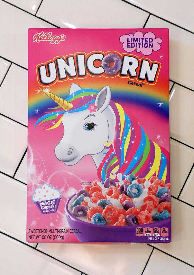 Kellogg unicorn cereal