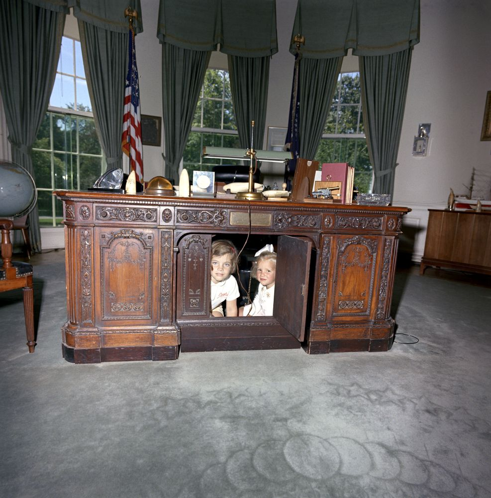 Kennedy kids desk Oval Office
