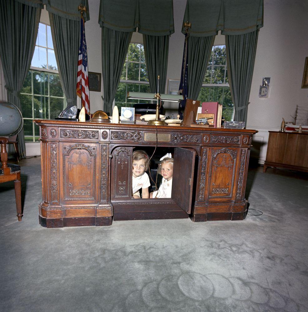 Kennedy kids desk Oval Office