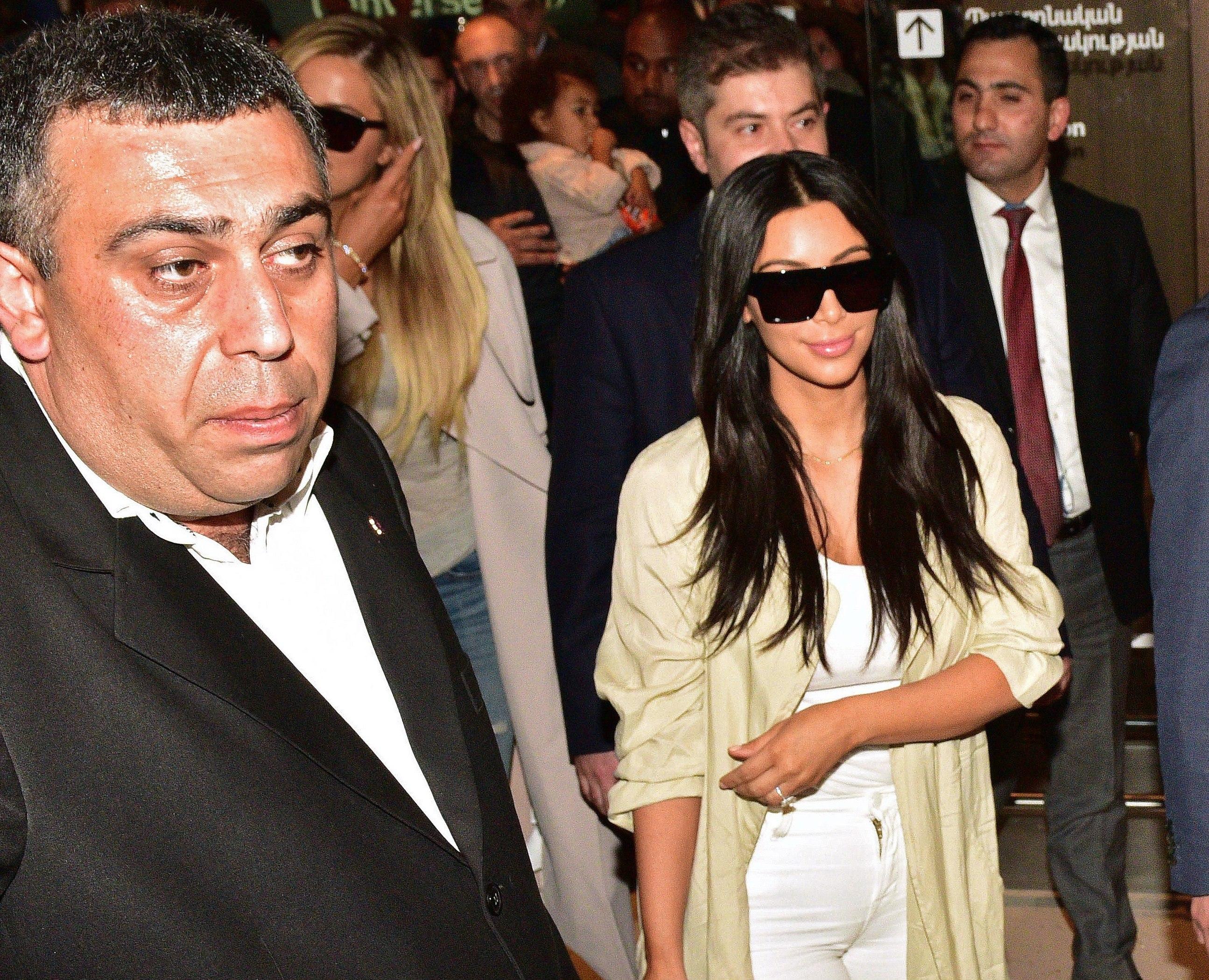 Kim Kardashian airport Armenia