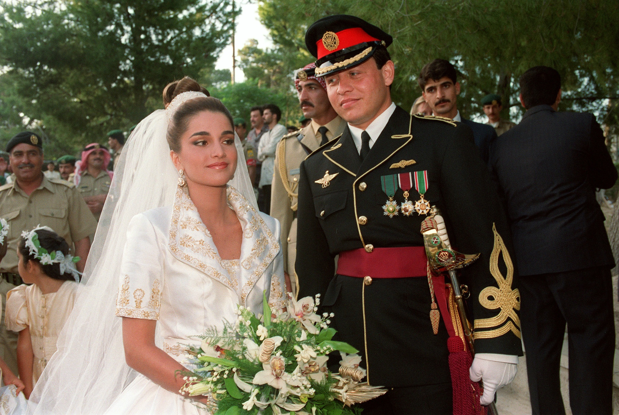 King Abdullah and Rainia wedding