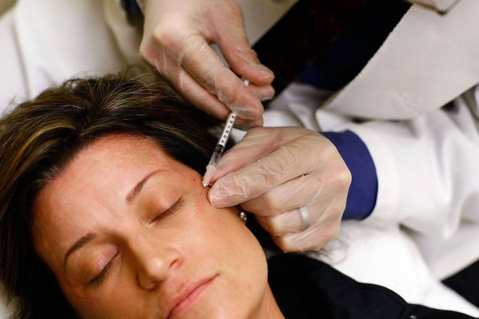 Lyn Talent receives a free Botox injection