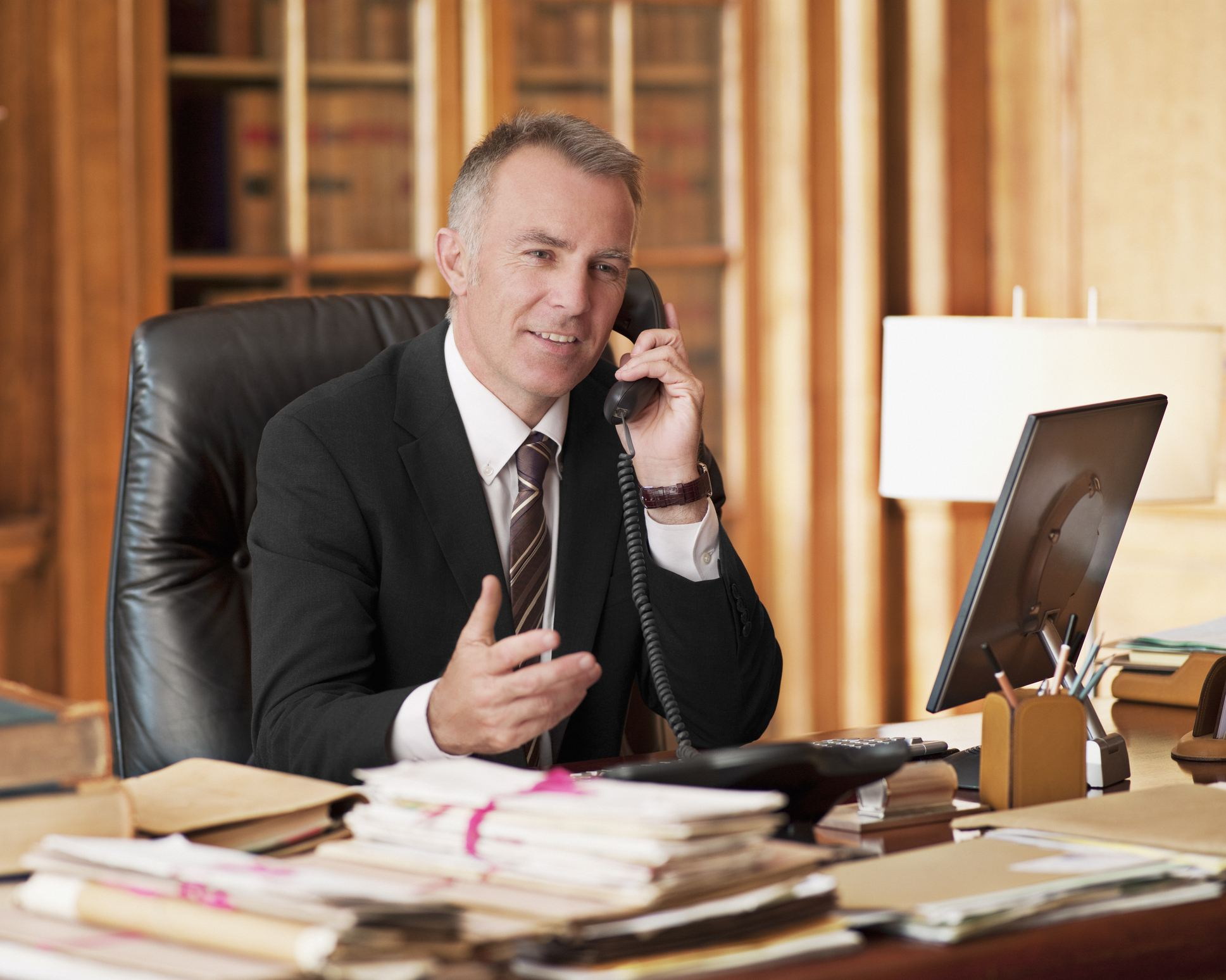 Lawyer on the phone