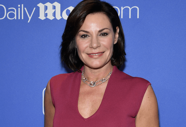Luann de Lesseps at a holiday party.