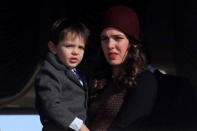 Charlotte Casiraghi appears with her son Raphael on the balcony of the Monaco Palace