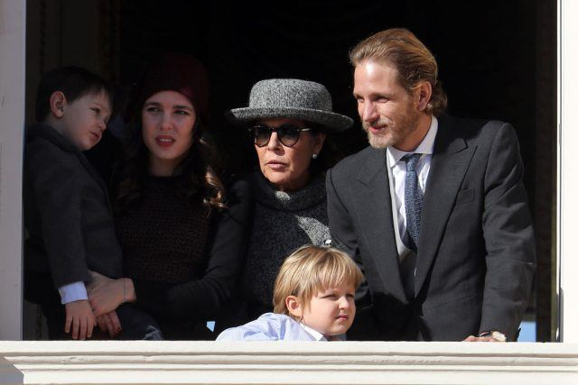 Charlotte Casiraghi and her son Raphael, Princess Caroline of Hanover, Sacha Casiraghi and Andrea Casiraghi greet the crowd from the palace's balcony