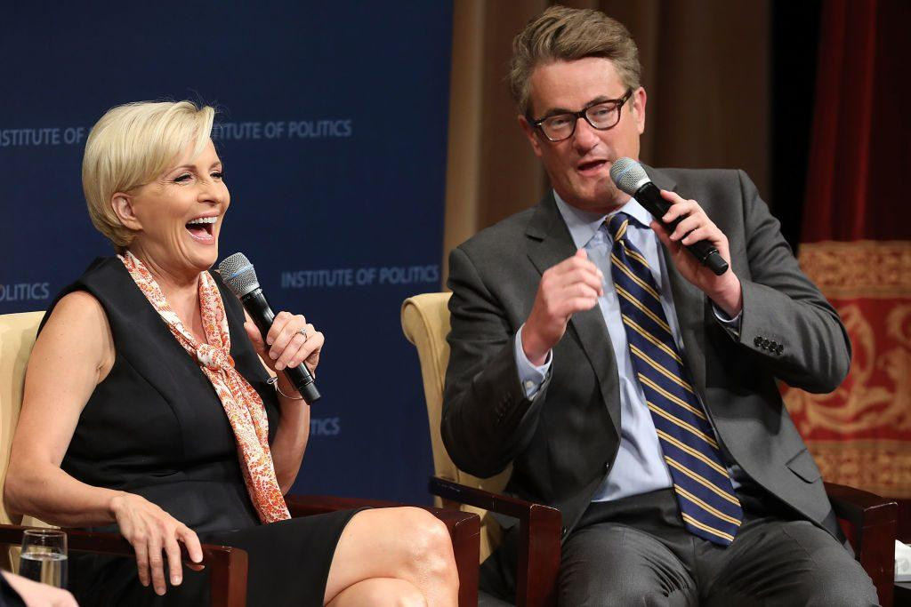MSNBC 'Morning Joe' hosts Joe Scarborough and Mika Brzezinski are interviewed by philanthropist and financier David Rubenstein