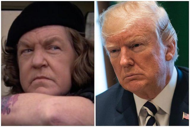 Donald Trump and Mama Fratelli collage.