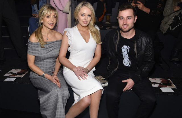 Marla Maples sits with Tiffany Trump and her boyfriend.
