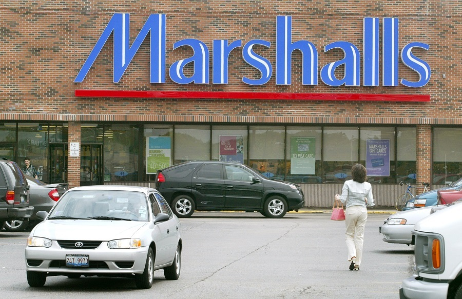 The front facade of a Marshalls store