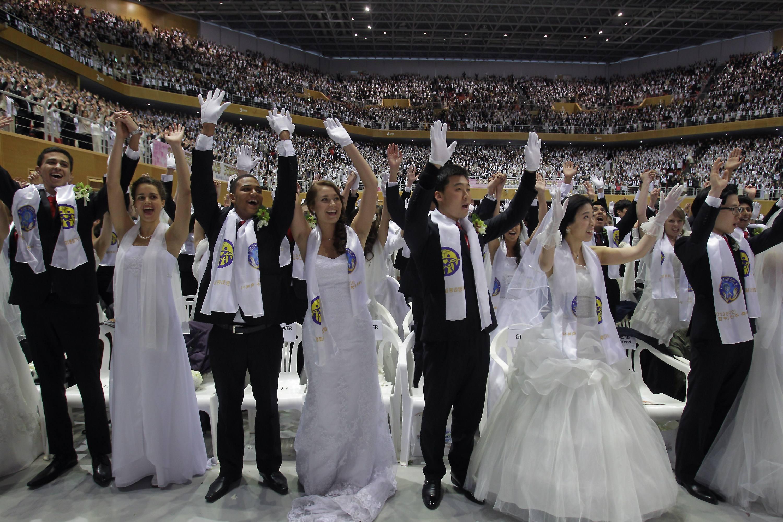 Unification Church Holds Mass Wedding