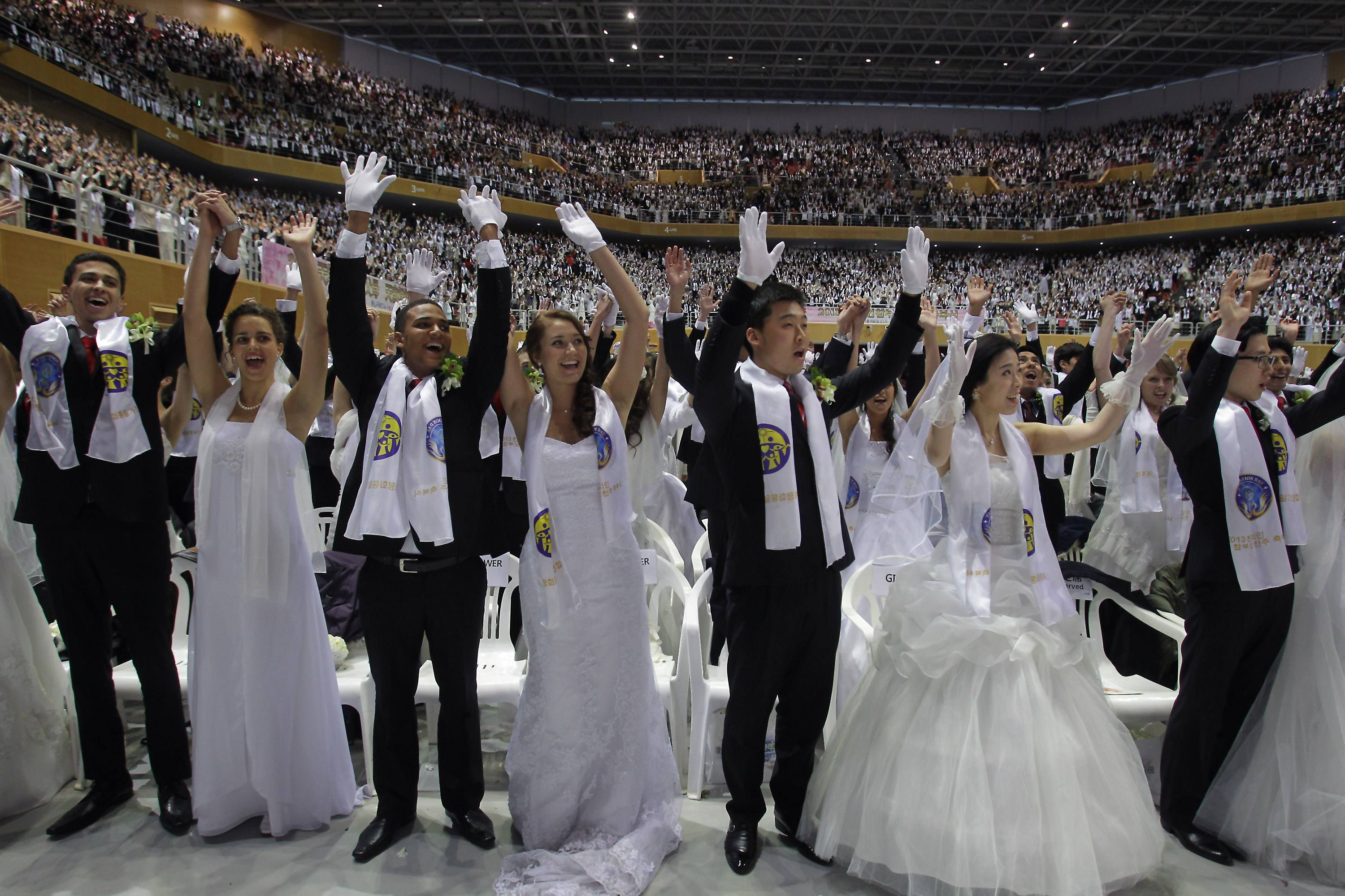 Unification Church Holds Mass Wedding