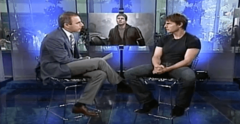 Matt Lauer and Tom Cruise